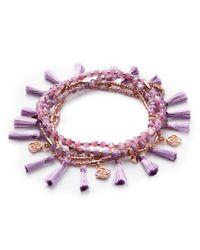 Kendra Scott - Purple Julie Rose Gold Stretch Bracelet Set In Lilac Mother Of Pearl Mix - Lyst