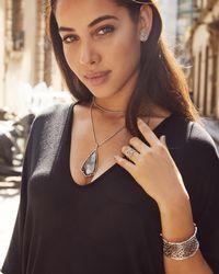 Kendra Scott - Metallic Ellie Rose Gold Stud Earrings In Platinum Drusy - Lyst