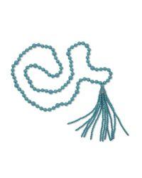 Kenneth Jay Lane | Blue Turquoise Tassel Necklace | Lyst