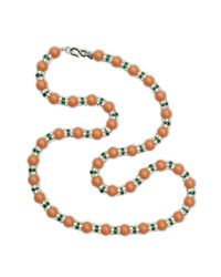 Kenneth Jay Lane | Pink Coral Bead Necklace | Lyst