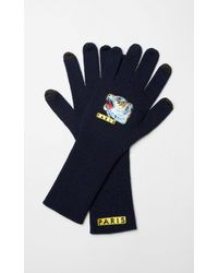 KENZO - Blue 'tiger Face' Gloves - Lyst