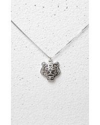 KENZO | Metallic 3d Tiger Necklace | Lyst