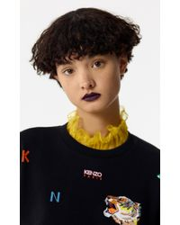 KENZO Black Multi-icons Skater Dress