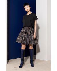 KENZO - Black 'eyes' Jacquard Skirt - Lyst