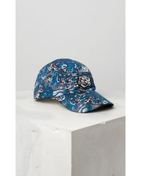 10a86ce7af8 Lyst - Kenzo Flying Tiger Caps in Blue