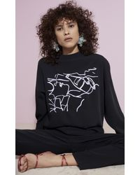 KENZO - Black Antonio Sketches Sweatshirt - Lyst
