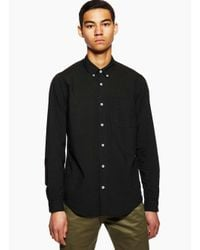 President's - Chatham Button Down Black for Men - Lyst