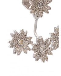 Yvonne Léon - Multicolor Diamond Flower Stud Earring - Lyst