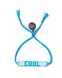 Venessa Arizaga - Blue Cool Beaded Bracelet - Lyst