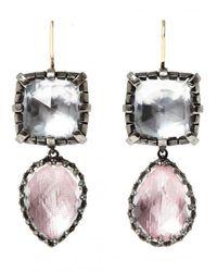 Larkspur & Hawk - Multicolor Sadie Cushion And Pear Drop Earrings - Lyst
