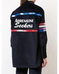 MIRA MIKATI - Blue Adrenaline Seekers Print Corduroy Shirt - Lyst