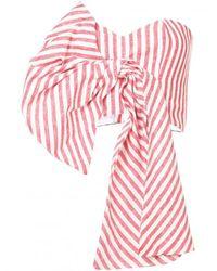 Johanna Ortiz - Pink Striped Bustier Bow Top - Lyst