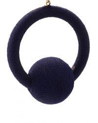 Rebecca de Ravenel - Blue Hoop La La Earrings - Lyst