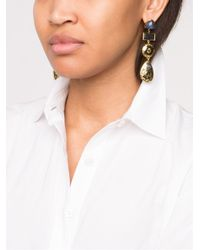 Lizzie Fortunato - Black Concho Column Earring - Lyst