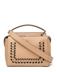 Fendi - Natural Fashion Show Dotcom Leather Bag  - Lyst