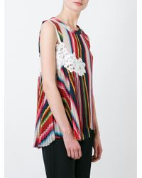 Sacai - Multicolor Rainbow Pleated Top - Lyst