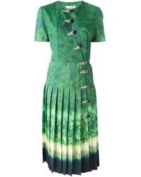 Altuzarra - Green Pleated Dress - Lyst
