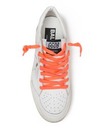 Golden Goose Deluxe Brand - White Neon Lace Sneakers for Men - Lyst
