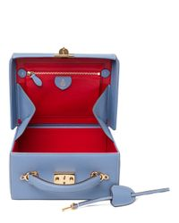 Mark Cross - Blue Pebbled Large Grace Box - Lyst