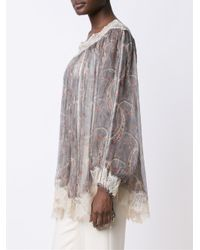 Zimmermann - Gray 'master Eyelash' Smock Top - Lyst