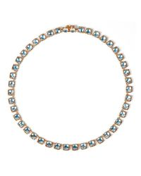 Larkspur & Hawk | Metallic Bella Mini Riviere Necklace - Aqua | Lyst