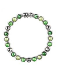Larkspur & Hawk | Multicolor Olivia Button Riviere Necklace - Green | Lyst