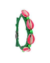 Venessa Arizaga | Shell We Dance Bracelet - Pink & Green | Lyst
