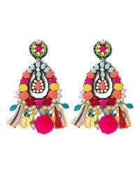 Ranjana Khan - Red Fringe Earrings - Lyst