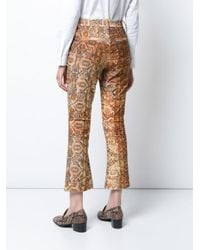 FRAME - Multicolor Persian Flared Crop Pants - Lyst