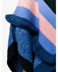 Stella McCartney - Blue Multi Stripe Snow Cape - Lyst