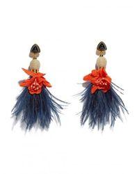 Lizzie Fortunato - Blue Garden Party Earrings - Lyst