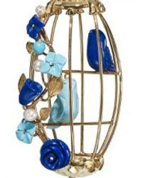 Of Rare Origin - Blue Lovebirds Cage Earrings - Lyst