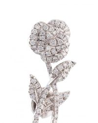 Yvonne Léon - Multicolor Rose Stem Diamond Earring - Lyst