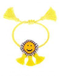 Shourouk - Yellow 'hippie Happy Face' Bracelet - Lyst