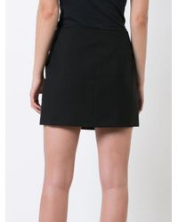 Saint Laurent - Black Heart Button Mini Skirt - Lyst