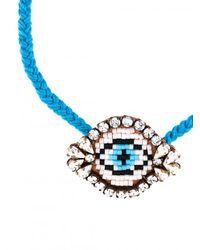 Shourouk | Blue 'eye' Beaded Bracelet | Lyst
