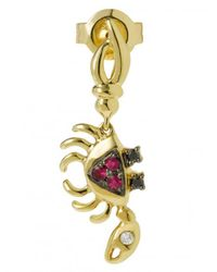 Yvonne Léon - Metallic Mini Crab Ruby, Gold And Diamond Earring - Lyst
