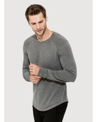 Kit and Ace - Gray Ford Brushed Long Sleeve for Men - Lyst
