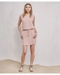 Krisa - Pink Boatneck Mini Dress - Lyst