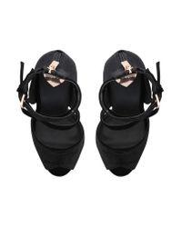 Miss Kg - Black Foxy Sandals - Lyst