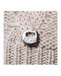 Ugg | Gray Isla Lurex Beanie W/fur | Lyst
