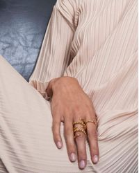 Lady Grey - Metallic Ophidia Ring In Gold - Lyst
