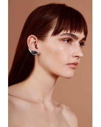 Lady Grey - Metallic Lobe Ear Cuff In Silver- Right Ear - Lyst