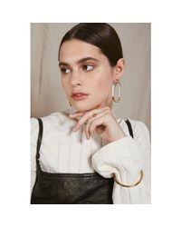 Lady Grey - Metallic Lucite Link Earrings In Gold - Lyst