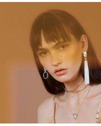 Lady Grey - Metallic Hand Hoop Earring In Rhodium - Lyst