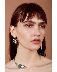 Lady Grey - Multicolor Stera Leaf Collar In Silver - Lyst