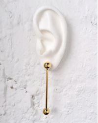 Lady Grey - Metallic Barbell Earrings In Gold - Lyst