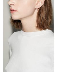 Shihara - White Small 3d Triangle Earring - Lyst