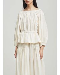 Molly Goddard - White Marion Top - Lyst