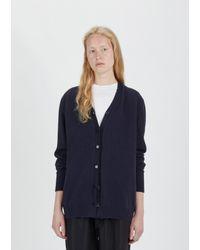 Sara Lanzi - Blue Wool Cashmere Oversized Cardigan - Lyst
